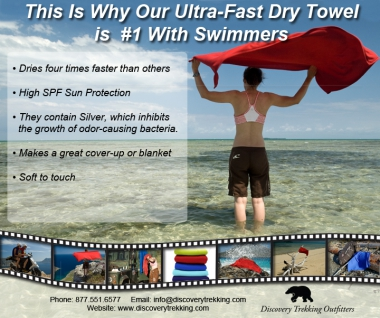 the ultra fastdry towel is the best travel towel i have ever used is small and compact yet large enough to use as a full wrap around or beach towel